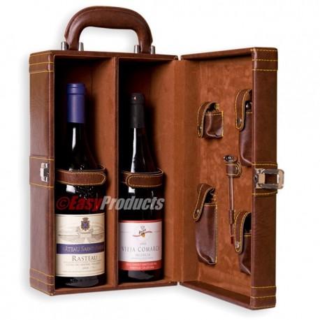 Magnifique coffret vin avec accessoires wine box for Coffret couture avec accessoires