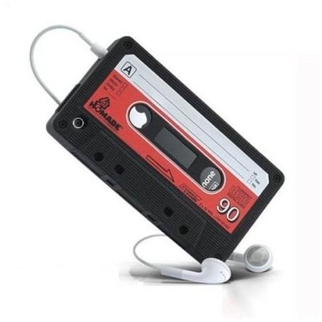 Fourre en silicone iK7 apparence d'une cassette audio iTape Deck