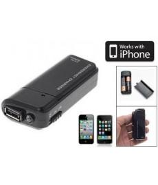 Chargeur de secours avec batterie AA pour iPhone, iPod et MP3