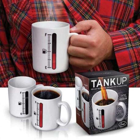 Tasse Mug avec jauge de niveau réservoir fuel tank up